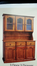 3 door 3 drawer buffet and hutch