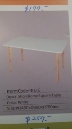 Roma square table