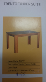 Trento Timber Table