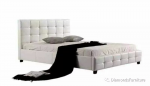 Mirrage PU Leather Double Bed