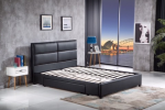Pu leather queen storage bed